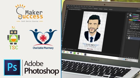 Photoshop From Scratch to Logos, Digital Drawing & Projects