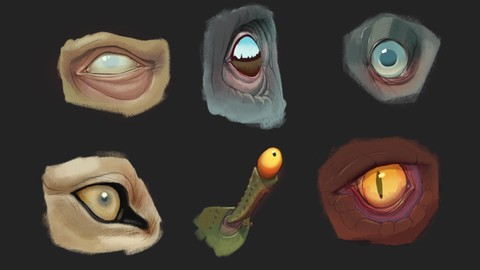 Digitally Painting and Drawing Eyes
