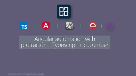 Angular automation with Protractor + Typescript + Cucumber
