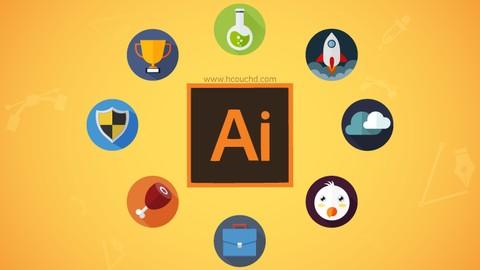 كيفية إنشاء أيقونات مسطحة ( flat icon ) بإستعمال illustrator
