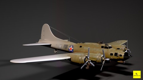How to Texture 3D Aircraft Model in Maya & Substance Painter
