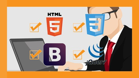 HTML CSS Bootstrap jQuery Website from Scratch to Production