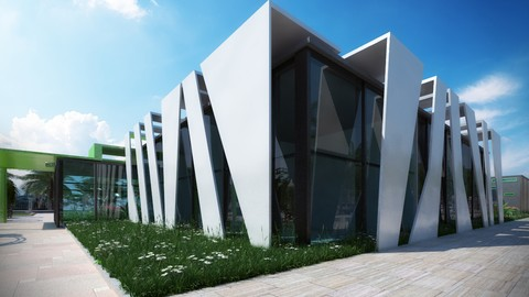 3d visualization , 3ds max, V-ray, Ps : 3D render The Museum