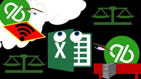 QuickBooks Online vs. QuickBooks Desktop vs. Excel