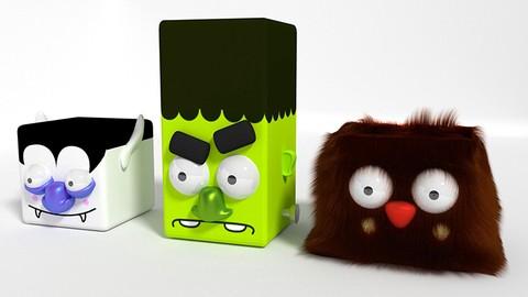 Make little Box Monsters with Blender 2.79