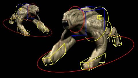 Creación, Rigging, Animación y Trackeo Creatura cuadrúpeda
