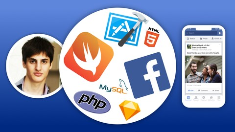 Develop Full iOS Facebook Clone App in Swift, Xcode and PHP