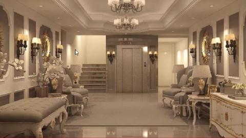 كورس انتريور احترافى ثرى دى ماكس  Interior Design Profession