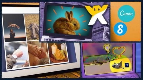 Make Quick & Easy Websites, Social Media Graphics & Video