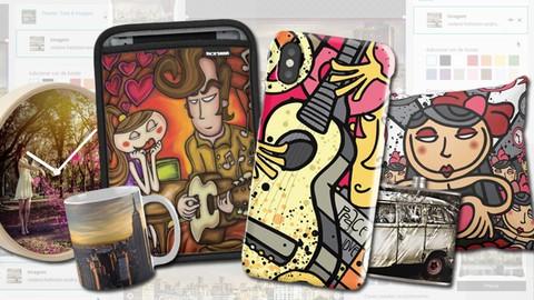 Aprenda personalizar produtos com sua arte e ganhe royalties