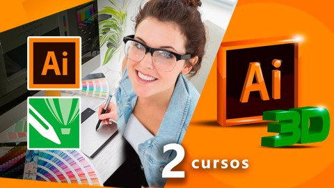 Design Gráfico DEFINITIVO e PRÁTICO+Illustrator 3D  2 cursos
