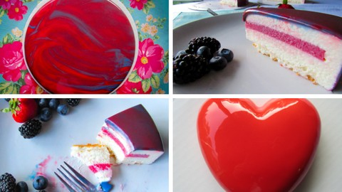 Mirror Glaze White Chocolate Mousse Cake Master Course