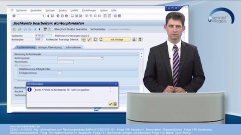 SAP Finanzwesen - Allgemeines und Hauptbuch Folge 108- 112