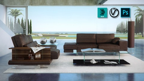 PHOTOSHOP POST WORK for INTERIORS - VRay Render Passes