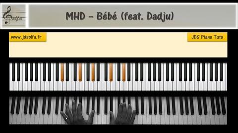 Apprendre le piano avec MHD - Bébé (feat. Dadju)