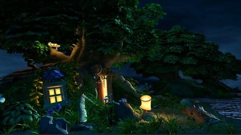 Maya 2017 - Create Pixar cartoon scene using Arnold and Maya
