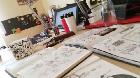 Sıfırdan çizim teknikleri öğrenme ve illüstrasyon yaratma