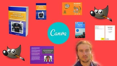 Couverture d'ebook et de livre papier avec Canva et Gimp