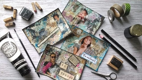 Introduction to Mixed Media - Creating Mixed Media Postcards