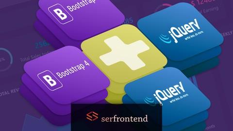 Curso Completo de Bootstrap 4 + jQuery com 6 Projetos reais