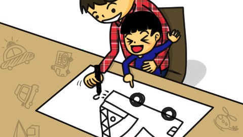 [子育てハック] 3歳児が夢中になる! 男の子が大好きな乗り物の手描きイラスト講座