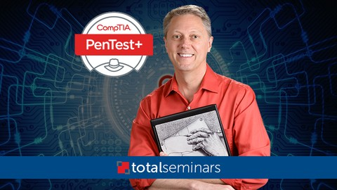 TOTAL: CompTIA PenTest+ (Ethical Hacking) + 2 FREE Tests.