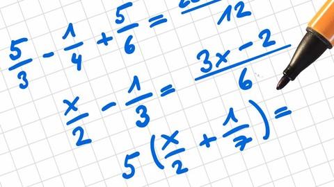 Mathematik - Bruchrechnen - Zahlen und Variablen