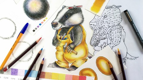 Colored Pencil Character Drawing Secrets with Cindy Wider