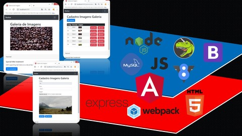 Programador FullStack Angular7/Node: Proj WEB Galeria Imagem