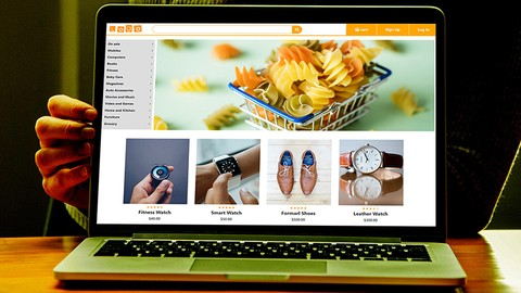 Make Ecommerce Website Front-End Using HTML CSS Bootstrap
