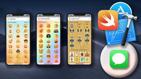 Build a customisable Sticker App for iOS + In App Purchase!