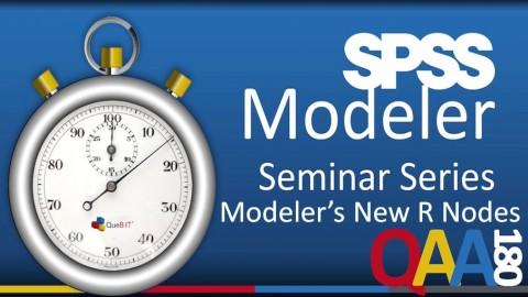 IBM SPSS Modeler: Modeler's New R Nodes