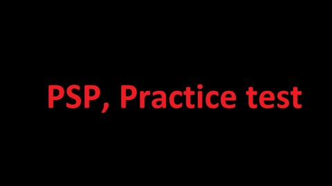 Planning and scheduling professional practice test