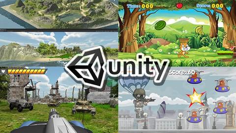 """用 Unity 帶你學會 """"做"""" 遊戲–從零開始讓你學了就會!(4 in One超值課程)"""