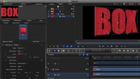 Creare e animare testi 3D in Motion 5