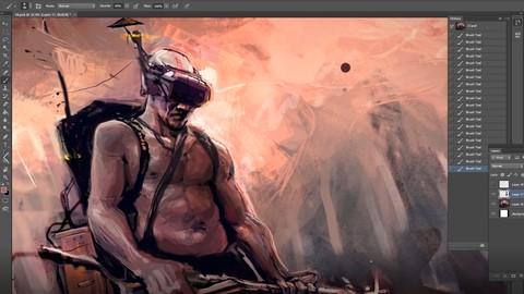 Concept Art: Zeichnen, Illustrieren und Malen in Photoshop
