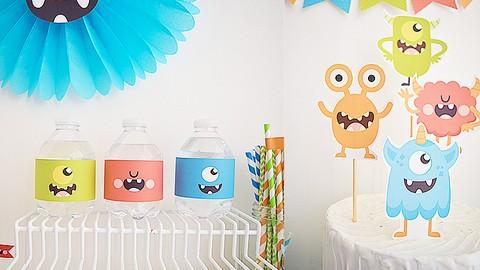 Diseña imprimibles para fiestas temáticas con Illustrator