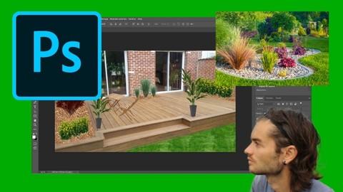 Photoshop pour l'aménagement de jardin infographie paysagère