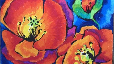 Масляная пастель. Креативные пейзажи и цветочные композиции