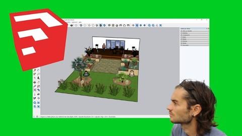 Sketchup pour l'aménagement de jardin