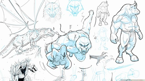 Drawing and Designing Creatures, Dragons, and Dinosaurs!
