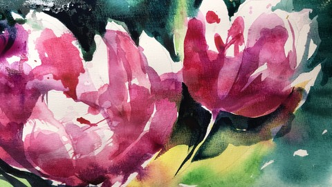 Watercolor Expression. Tulips Variations. (English)