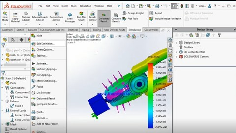 SOLIDWORKS ASSY. & ANALYSIS TOOLS WITH INDUSTRIAL GEARS