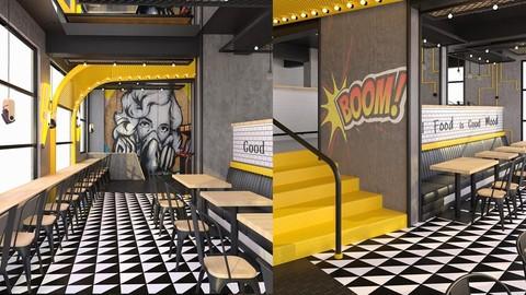 Interior Design Process of a Cafe/Restaurant