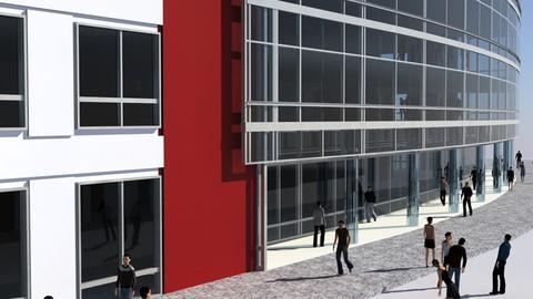 3ds max Populate Architettura