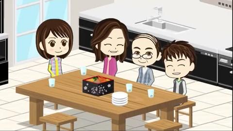 Learn English conversation at アニメで日常ー家族編 「慶応大学田中茂範名誉教授監修」