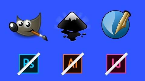 Pack graphic design the basics Gimp + Inkscape + Scribus