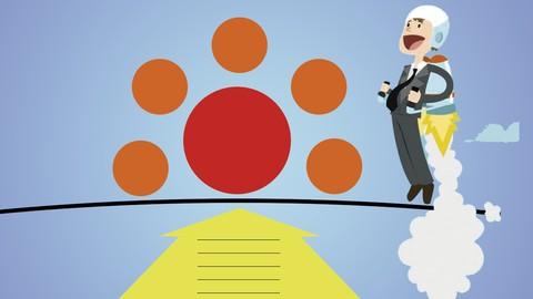 Crea tu de visión de empresa con 5 bold step vision canvas