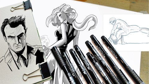 Learn the digital inking for your illustrations