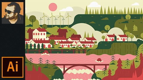 Flat Landscape Design in Illustrator (Perfect For Beginners)